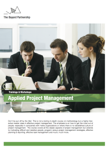 Bayard Applied Project Management