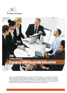 Engaging with Corporate Executives