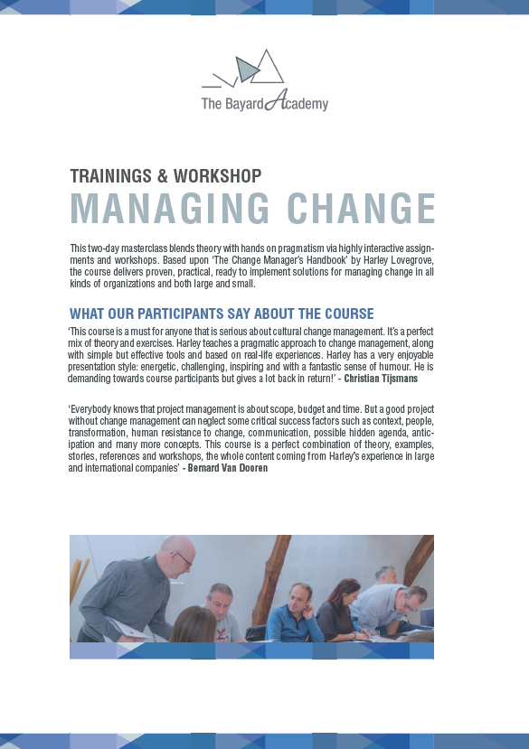 Workshop managing change - information brochure